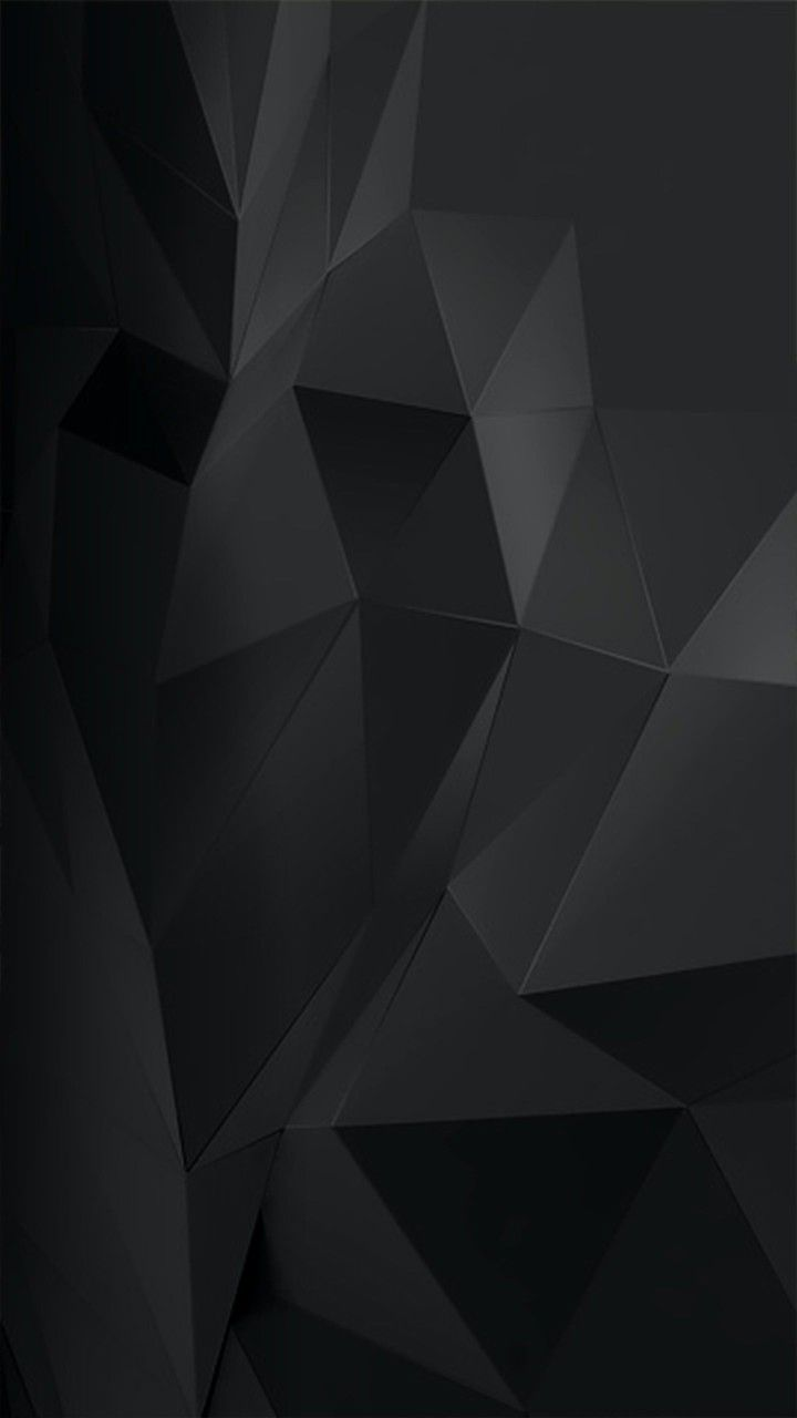 Black Polygon In 2019 Iphone Wallpaper For Guys Black