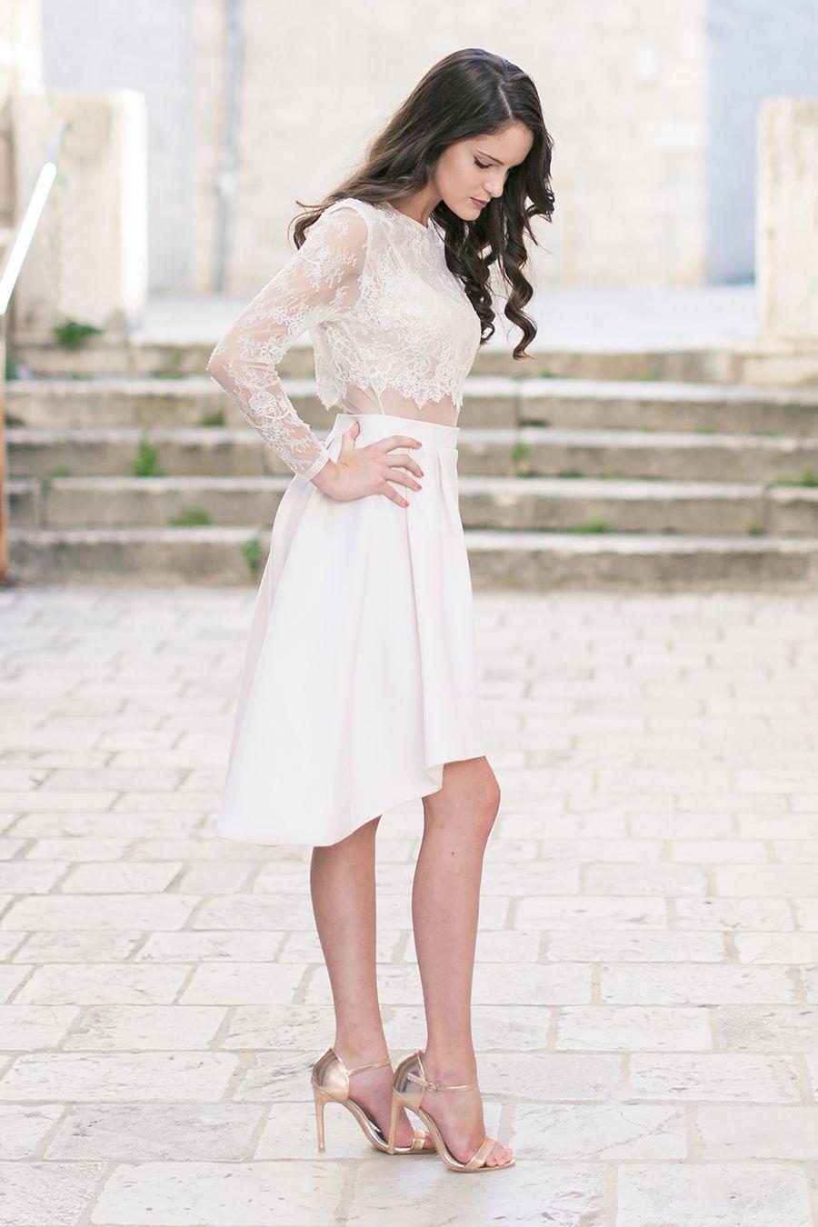 Ein Brautkleid für das Standesamt  Brautkleid standesamt, Kleid