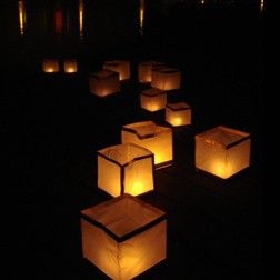 10 Bio Degradable Water Decorative Tealight Lanterns Eco Friendly Sky Lante Outdoor Party Lighting Tea Lights Lanterns
