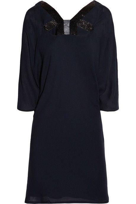 Amanda Wakeley Beaded cutout silk dress