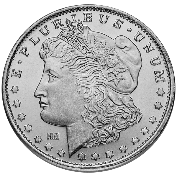 1 Oz Silver Round Morgan Silver Dollar Design 999 Fine Silver Round Will Add To Any Numismatic Collection Gold Investments Silver Bullion Silver Investing