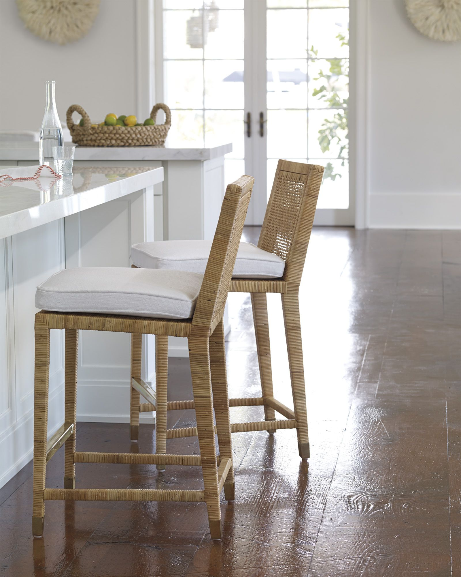 Wooden Kitchen Counter Stools Balboa Counter Stool Coastal Accents Rattan Counter Stools