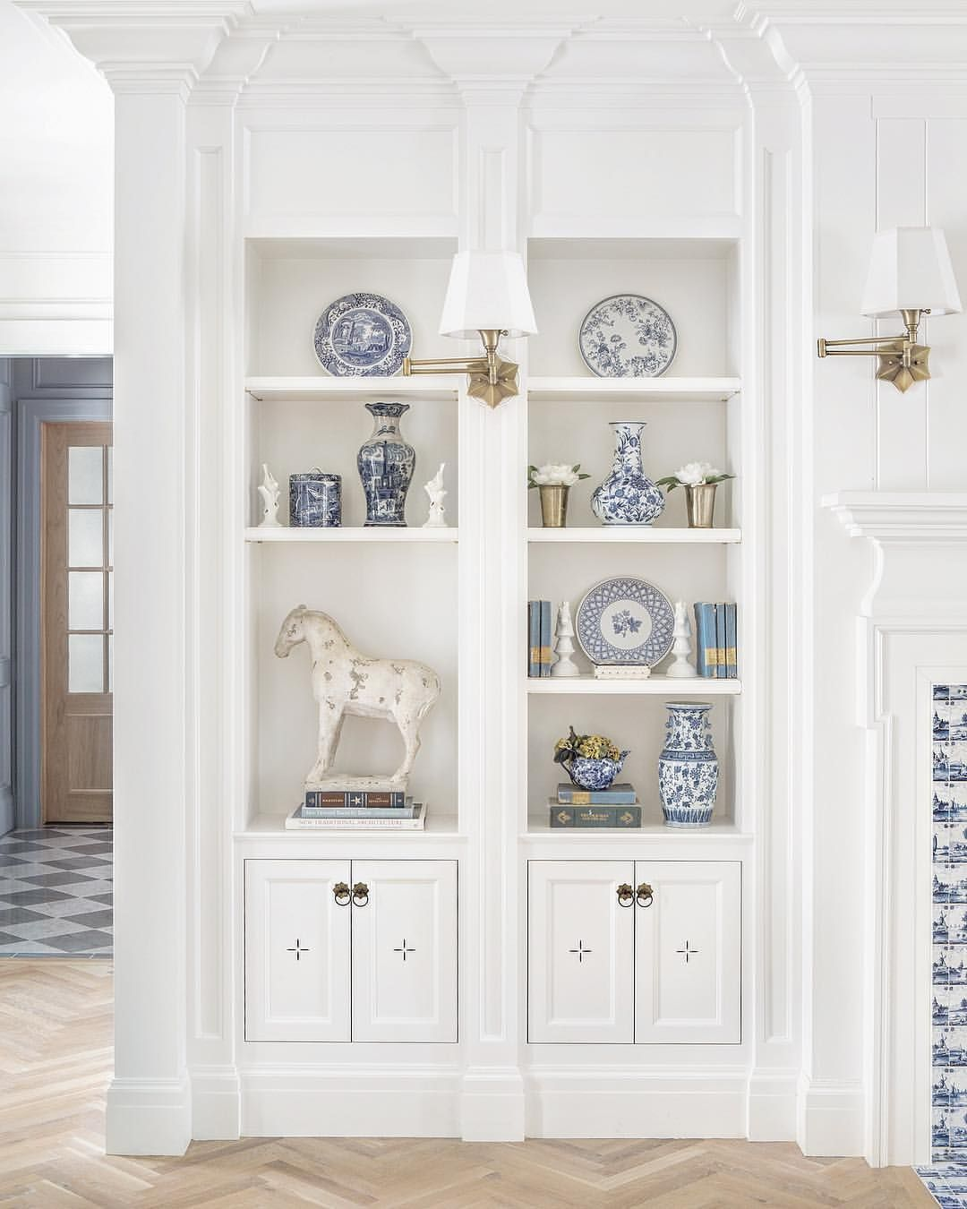 Blue and white with details all around thefoxgroup