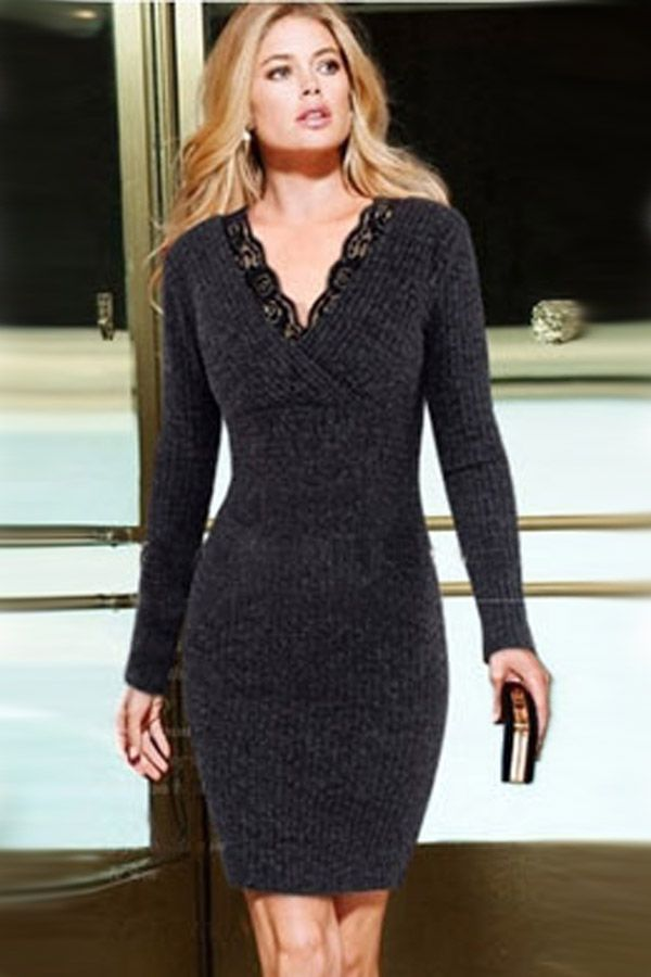 ... Bodycon Sweater Dress   Long Sleeve. Image result for sweater dress 0d4c7c607