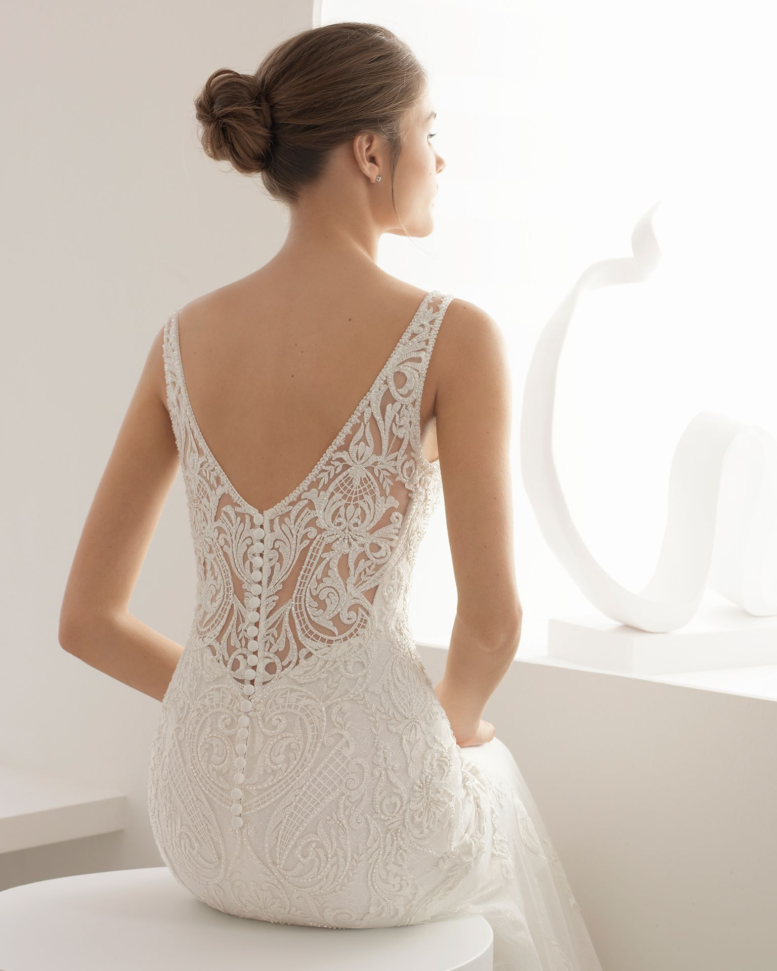 Abal mariée collection rosa clará beaded lace lace