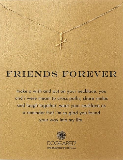 Beautiful necklaces with meaningful message friends
