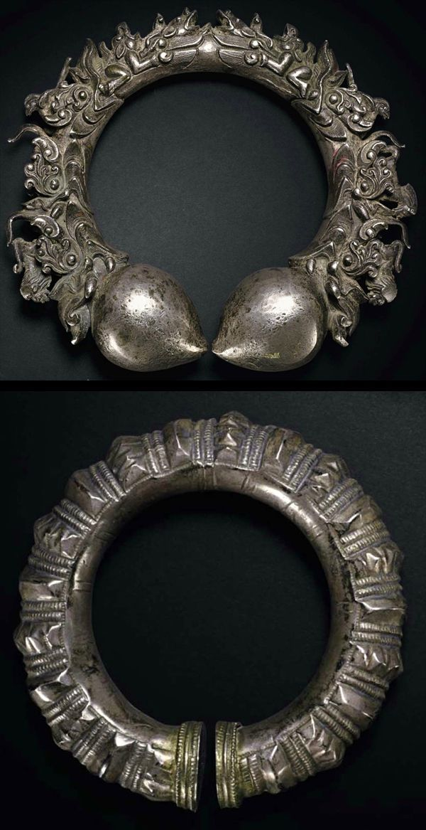 Silver bracelets, India, 19th/20th C.