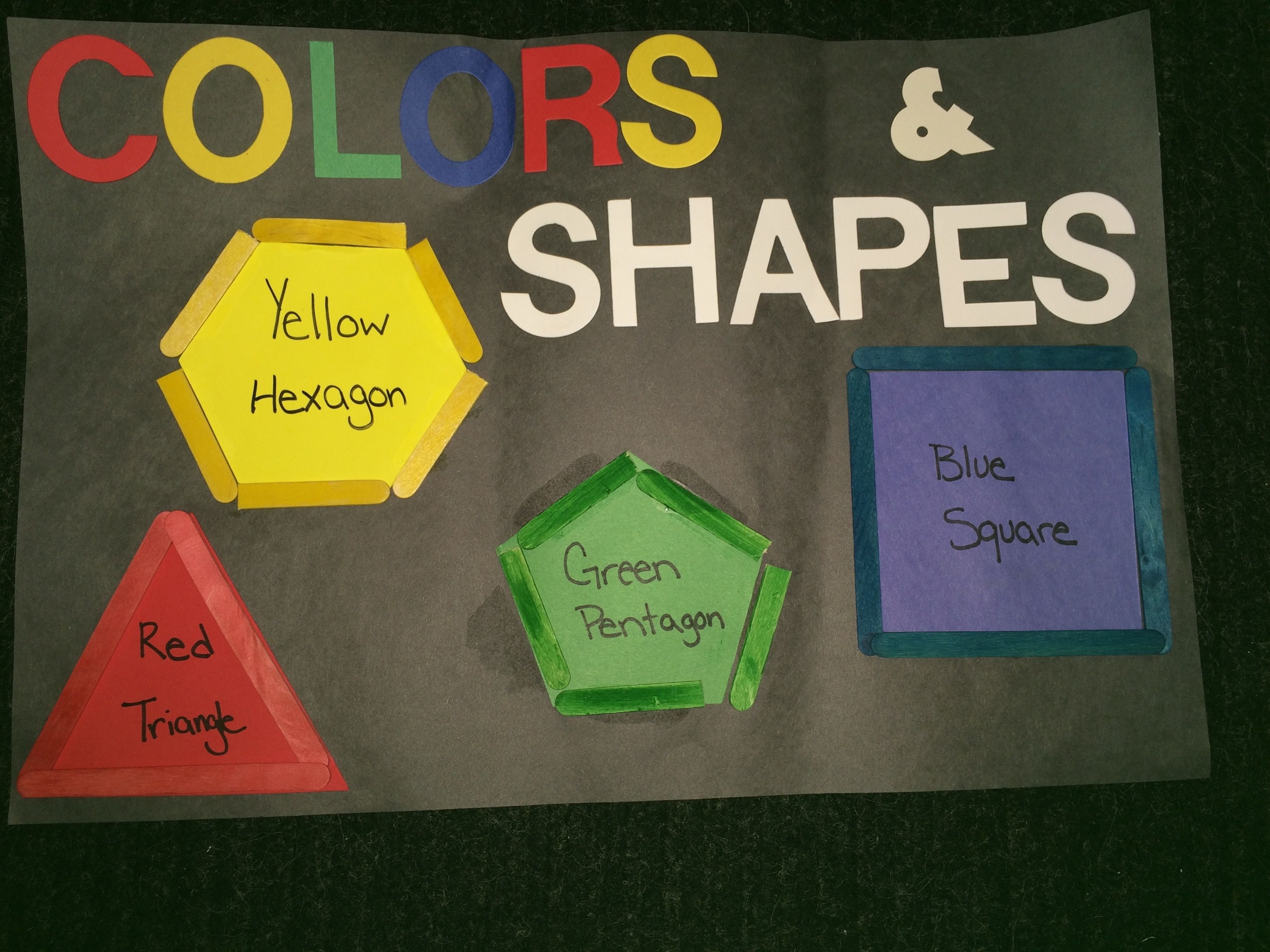 Color And Shapes Puzzle Cut Out Different Shapes, 1 Each