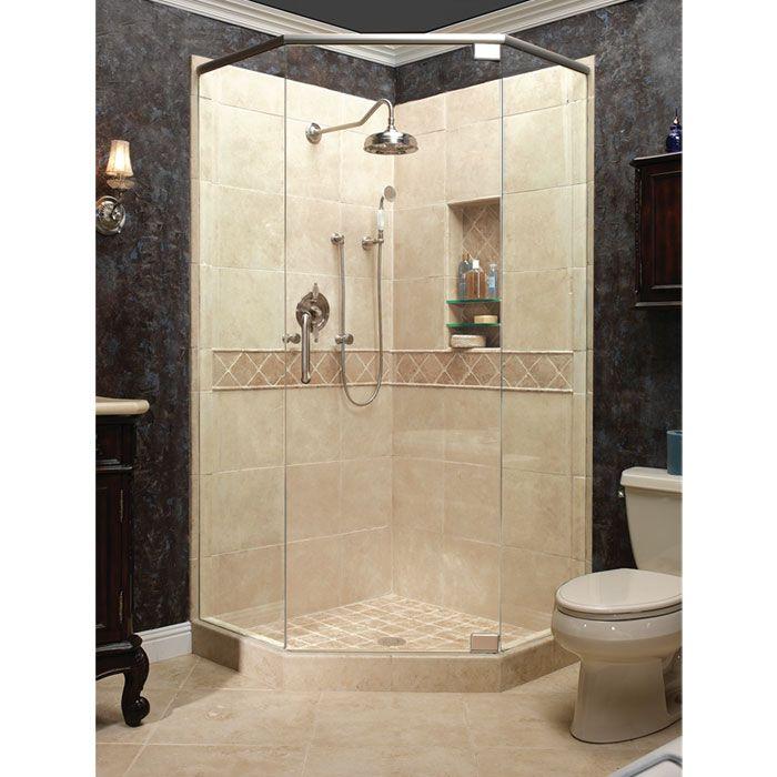 ahqua products  small bathroom neo angle shower