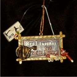 Fishing Reel Expert - Personalized Family Christmas Ornament