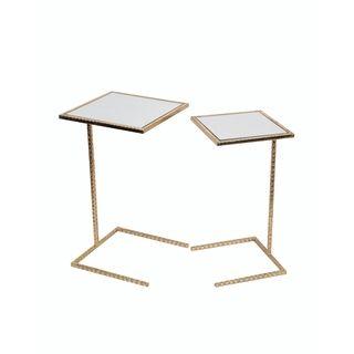 Lovely Avenue Greene Modern Black Glass Top C Table | Overstock.com Shopping   The  Best