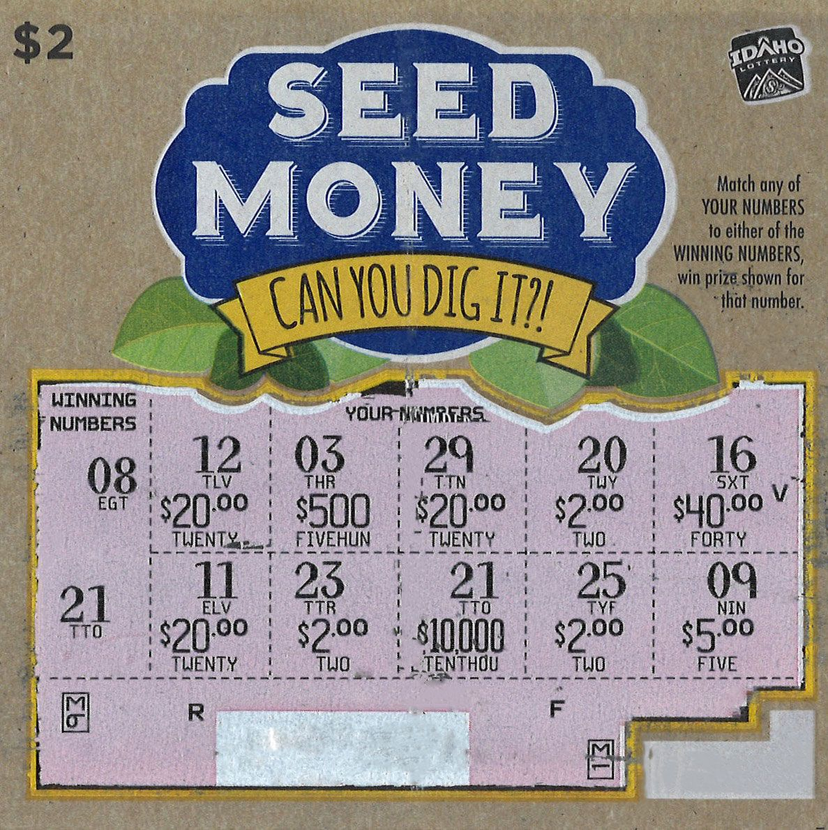 10 000 Winner On Seed Money Ticket Was Purchased In Boise With