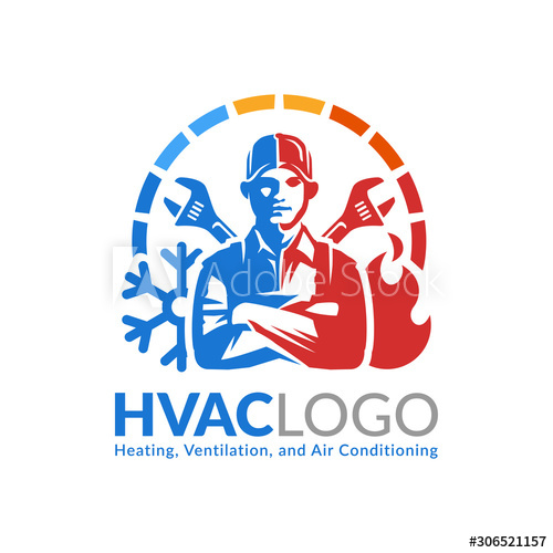 Hvac Logo Design Heating Ventilation And Air Conditioning Logo Or