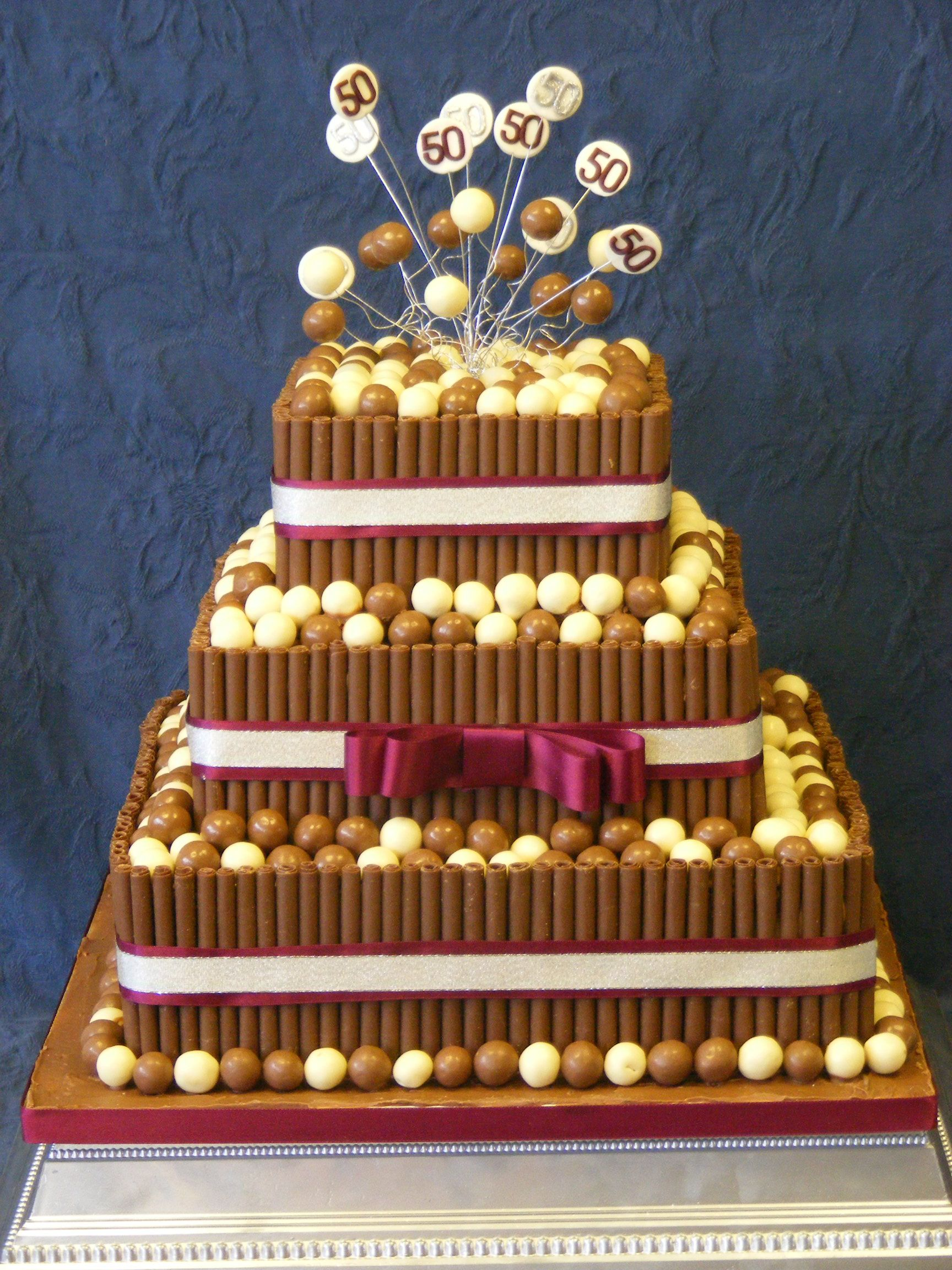 3 Tier Malteser Theme 50th Birthday Cake