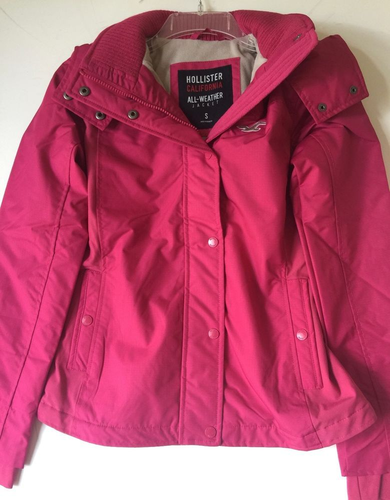 Hollister By Abercrombie Women S All Weather Fleece Lined Jacket Pink S Nwt Hollister Fleecejacket Abercrombie Women Line Jackets Hollister Style
