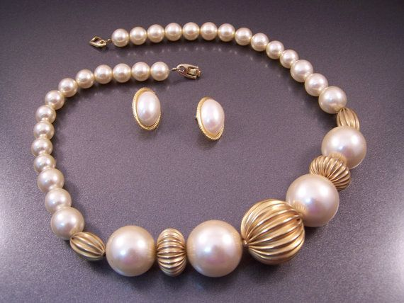 Napier Large Pearl Bauble Necklace and Pierced by LucyLucyLemon, $19.99