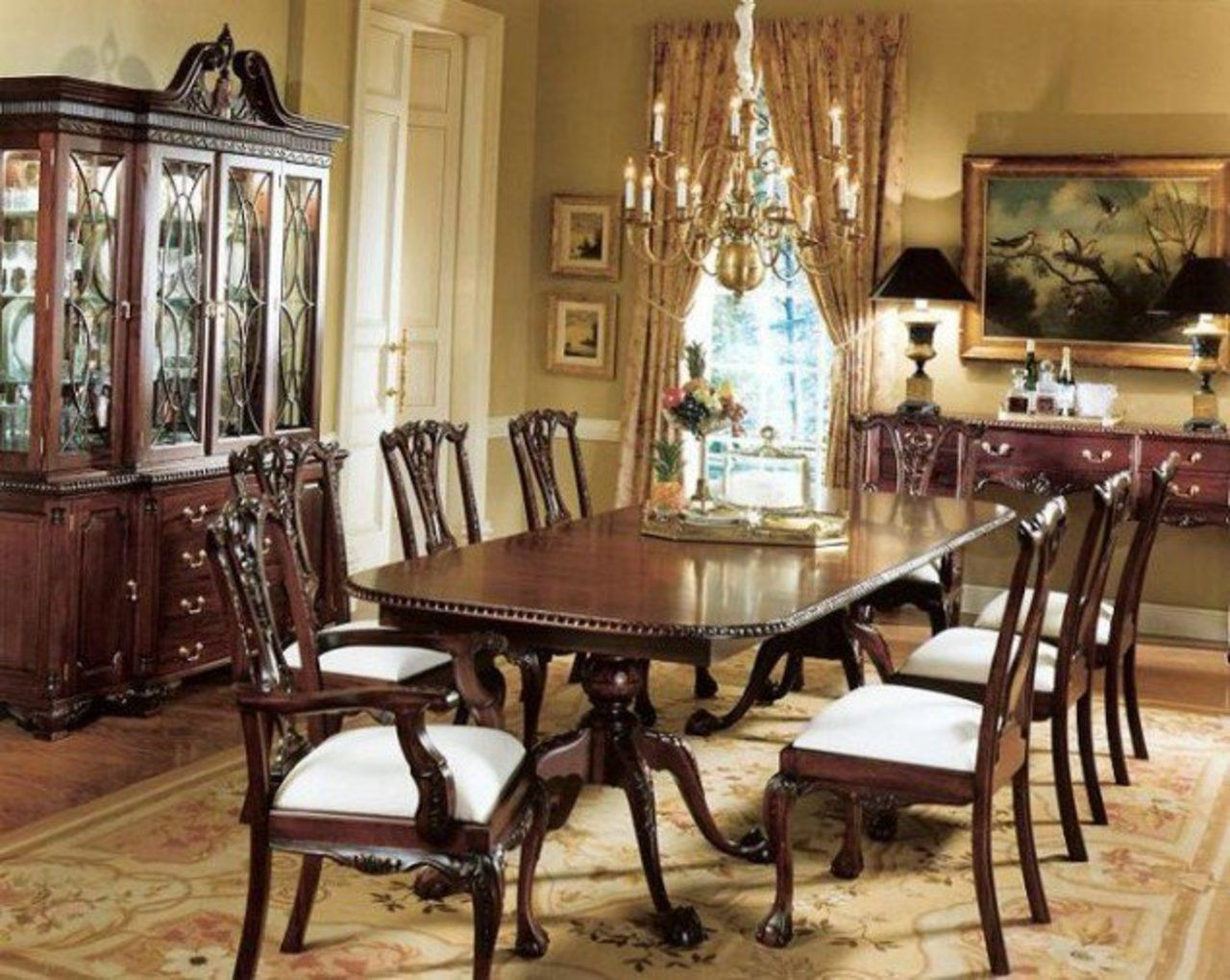 Chippendale Dining Room Captivating Chippendalediningchaircollectionfrommahogany635X506_Large Design Ideas