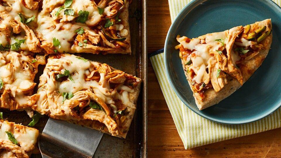 Barbecue Chicken Pizza Recipe Baby Food Recipes Barbecue Chicken Chicken Pizza