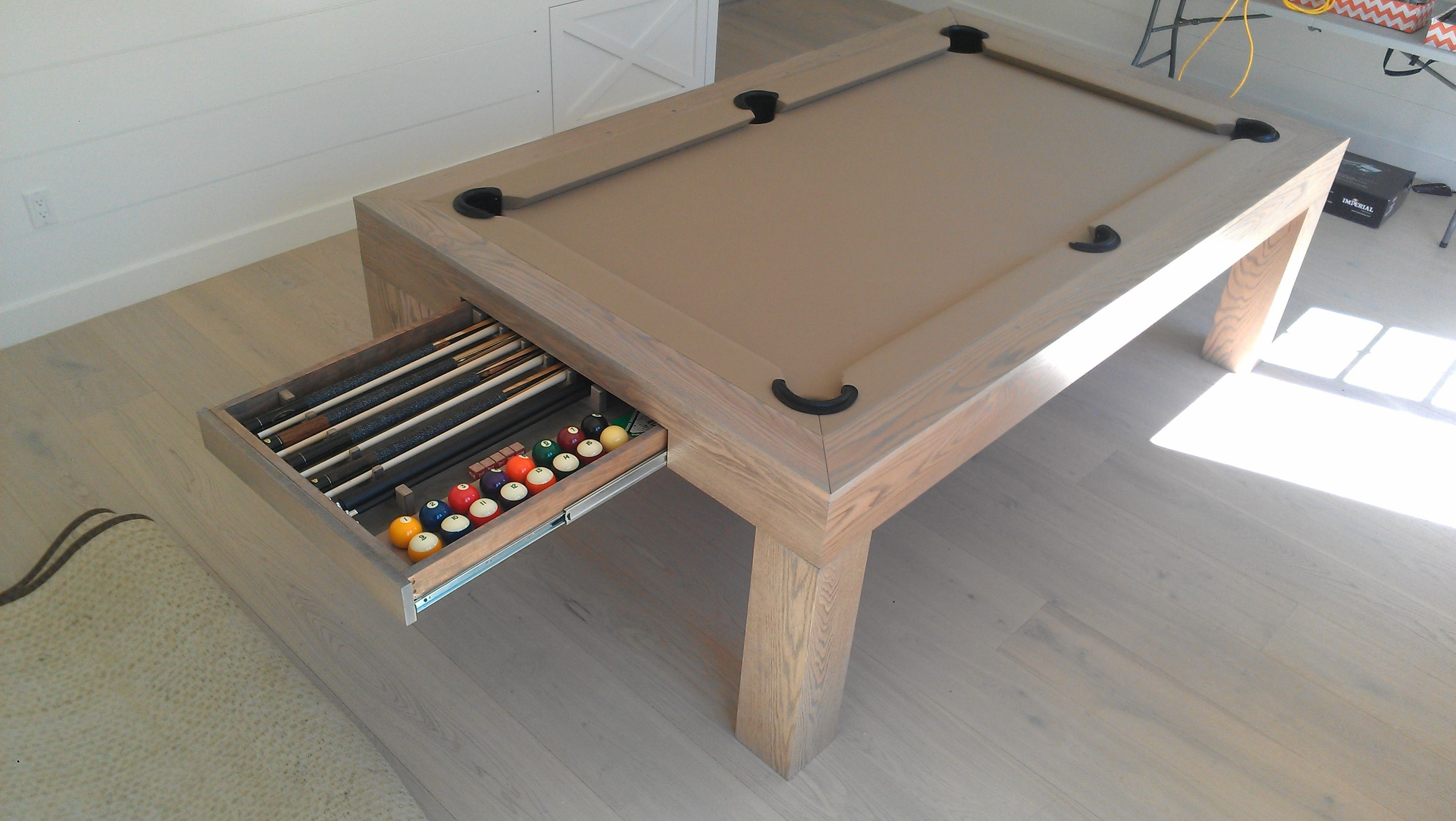 Bellagio Pool Table White Wash Pool Table Dining Table Custom