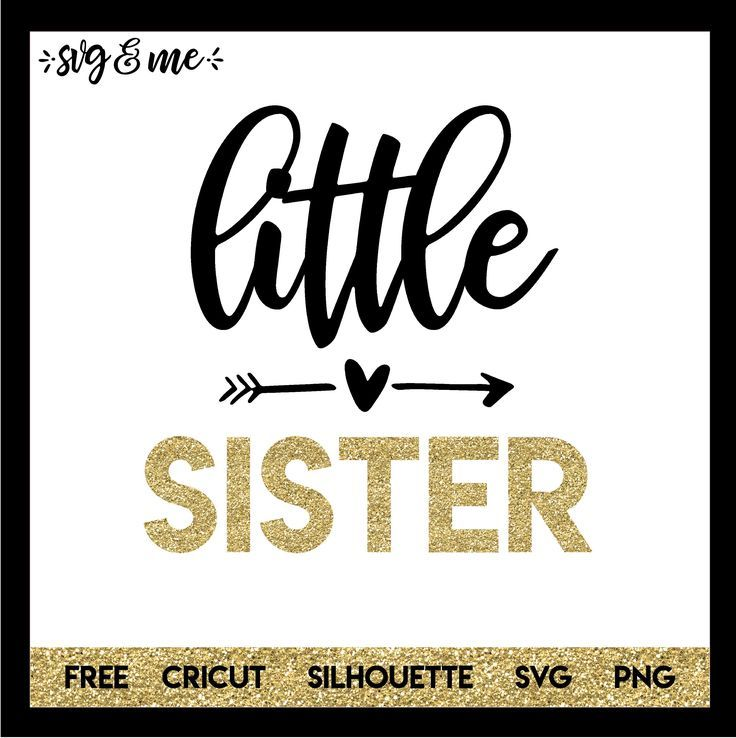 Little Sister New Baby Baby svg, Baby girl svg, Cricut free