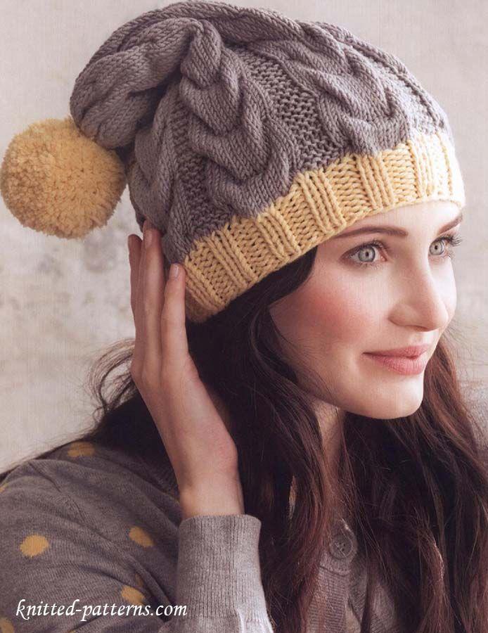 Hat knitting pattern free | Free knitting patterns | Pinterest ...