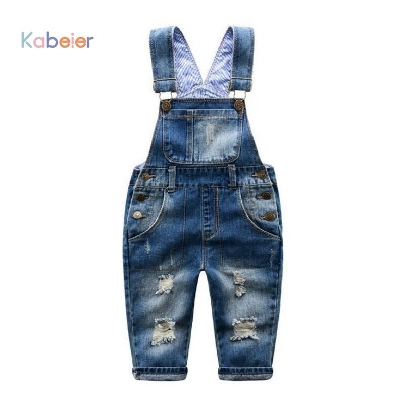 4496fcbbd8 Fashion Denim Pants Overalls Boys Ripped Jeans Girls 2-7 Yrs Baby Boys  Jeans Kids Clothes Casual Children s Jeans Kids Trousers