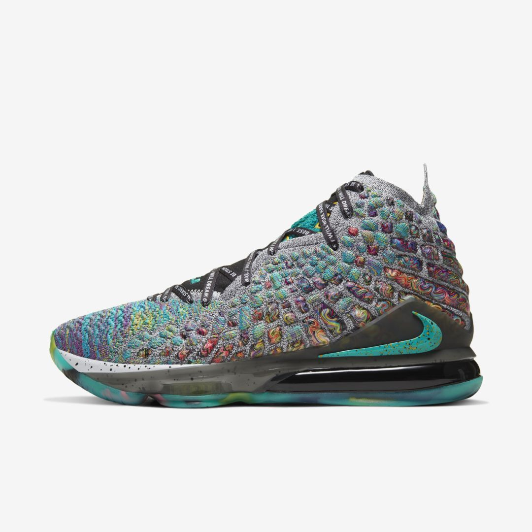 Nike LeBron 17 LJFF Basketball Shoe (Green Slate Heather) in