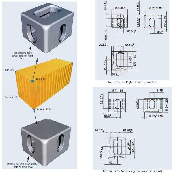 Low Price Container Corner Casting View Container Corner