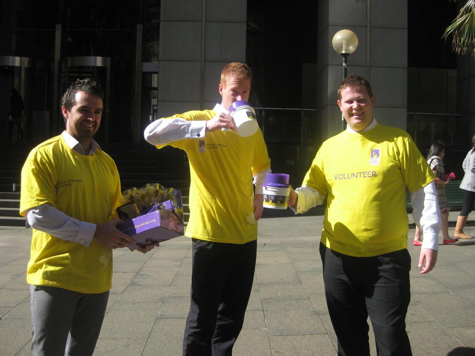 Selling merchandise for Starlight Day in Sydney Job