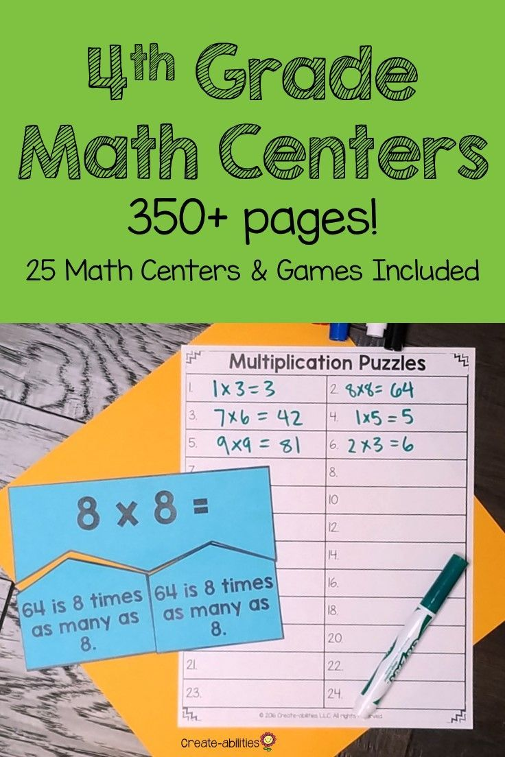 4th Grade Place Value Math Centers | Education | Pinterest | Center ...