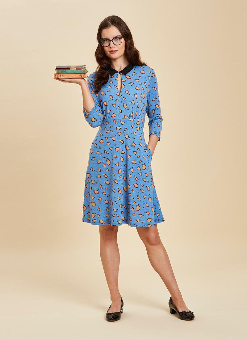 d279fa0b5011c Kelly Pencil Print Collar Dress in 2019 | Workwear | Collar dress ...