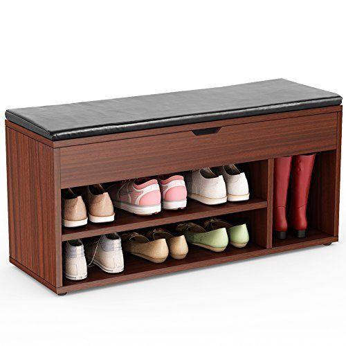 Www Amazon Com Winsome Dayton Storage Bench Shelves Dp B008qz4wd2 Ref As Sl Pc Qf Sp Asin Til Tag Drr Bench With Shoe Storage Hall Bench With Storage Shoe Rack