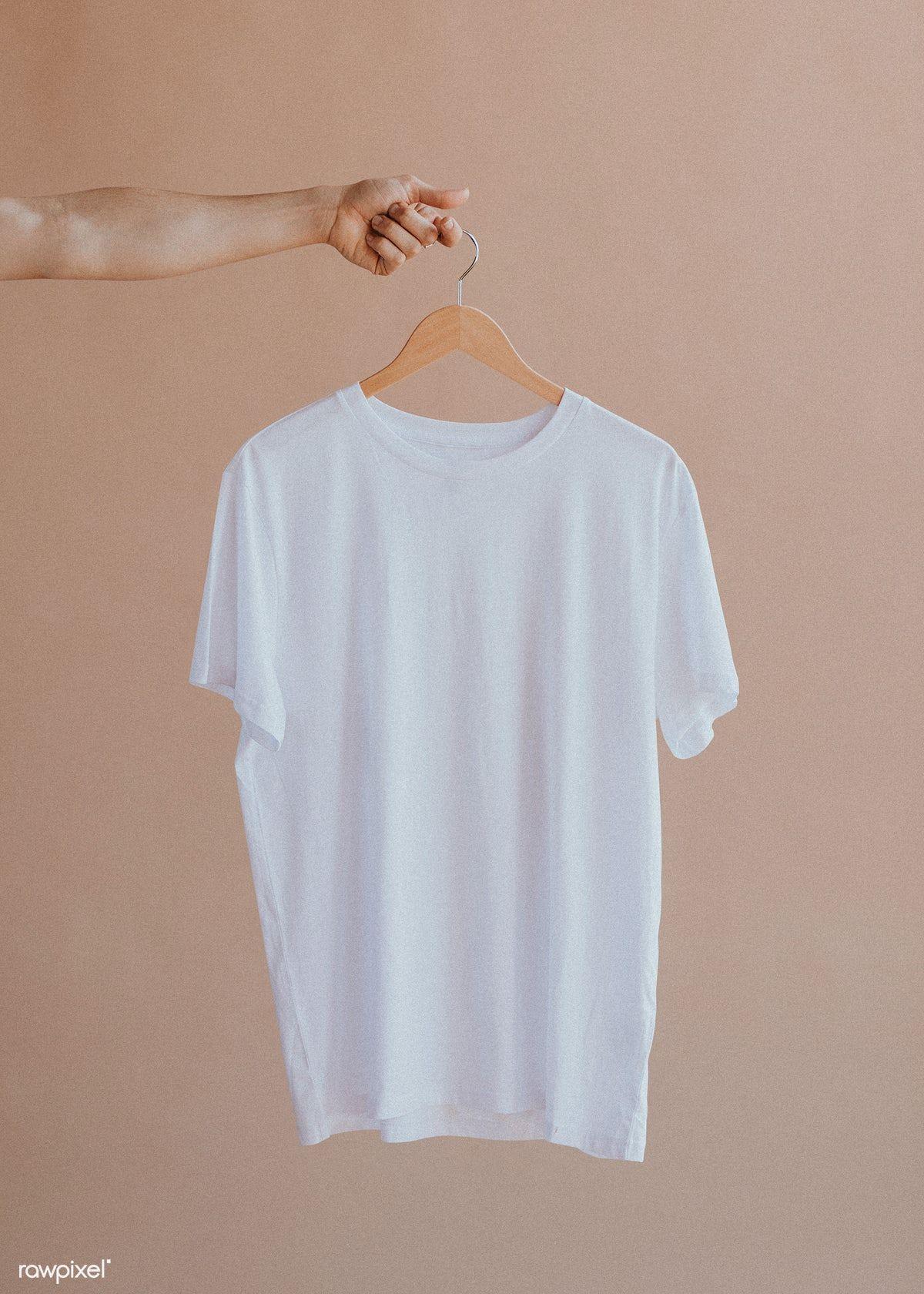 Download White Shirt In A Hanger Premium Image By Rawpixel Com Felix Plain White T Shirt Planet Shirts Plain White Shirt