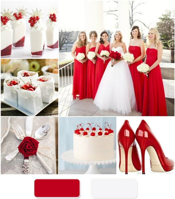 Red And White Wedding.The Red Wedding Color Combination Ideas Weddings Wedding