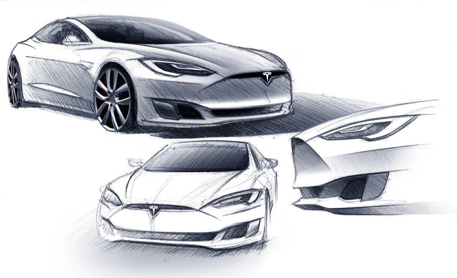 Tesla model S redesign | Car design | Pinterest | Car sketch