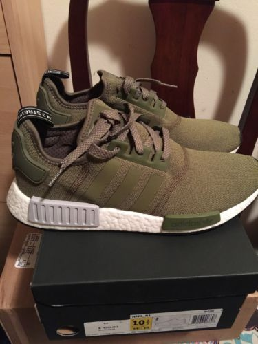 e99e4cee5 Adidas NMD R1 Boost Olive Green Grey BB2790 US 10.5 Pk OG Trace Cargo