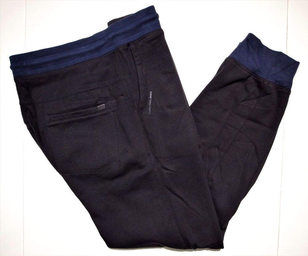 Calvin Klein Jeans collection men's jogger color-block fleece pants size xl #CalvinKleinJeans #Pants