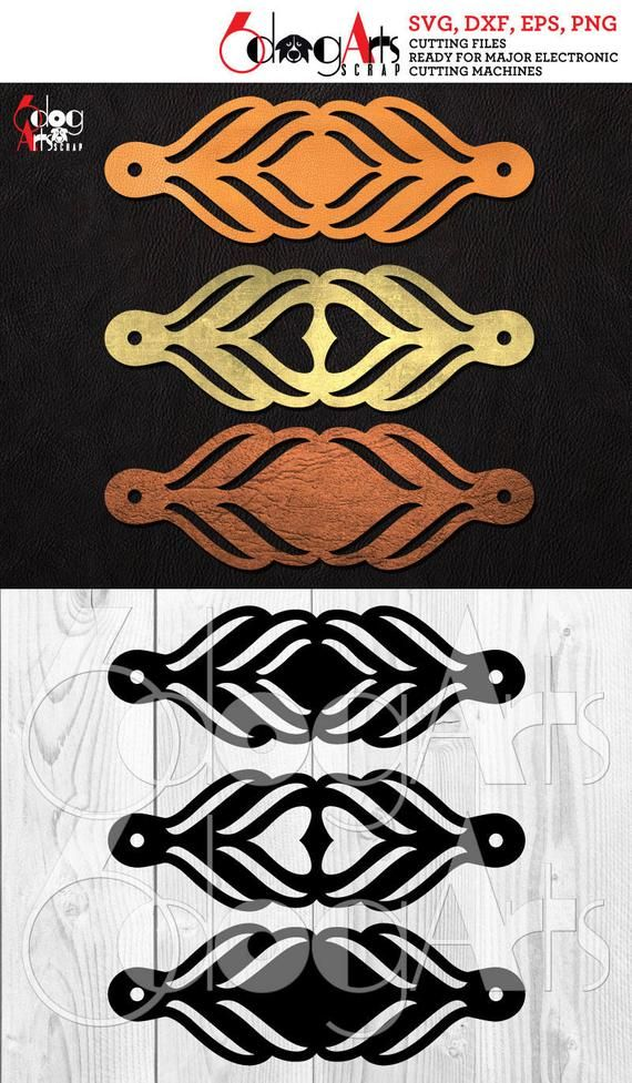 Photo of 3 Cuff Bracelet Leather Jewelry Templates Vector Digital SVG DXF Cut Files Cuttable Download Laser Cutting Cricut Maker JB-1037