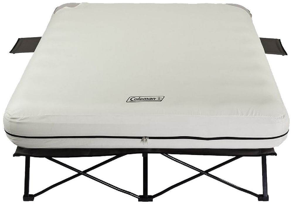 Queen Airbed Cot Coleman Pump Camping Steel Bed Frame Size Air New Side