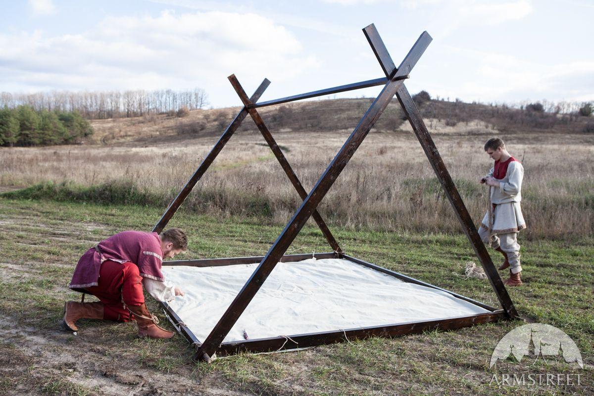 Wooden Frame for Medieval Canvas Vikingu0027s Tent & Wooden Frame for Medieval Canvas Vikingu0027s Tent   Viking Camp ...