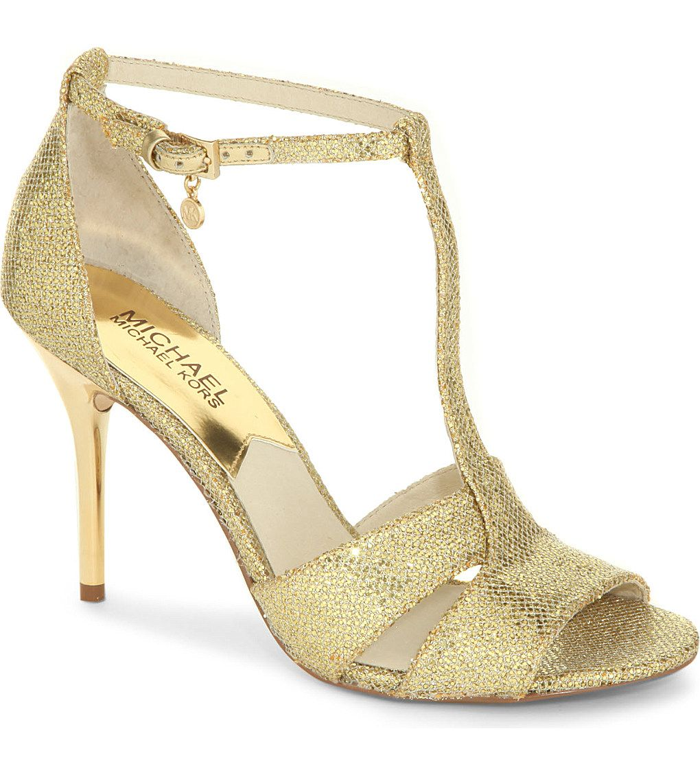 MICHAEL MICHAEL KORS   Diana Open Toe Metallic Sandals | Selfridges.com