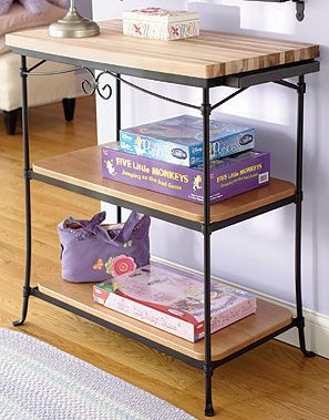 Nr Wrought Iron Tall Baker S Rack Bottom Floor Stand 71432 This