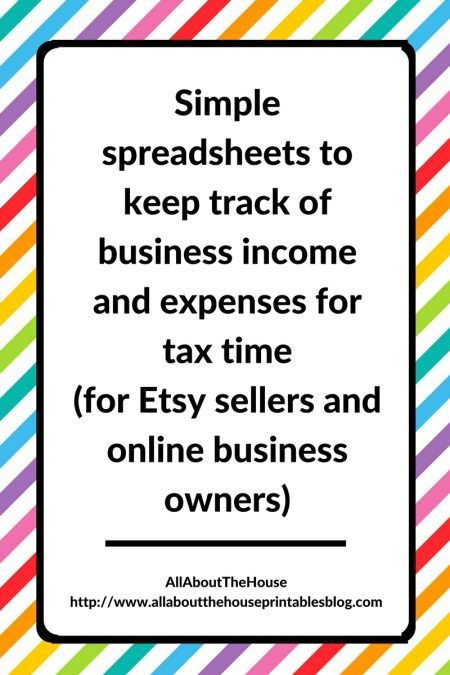 Simple spreadsheets to keep track of business income and expenses