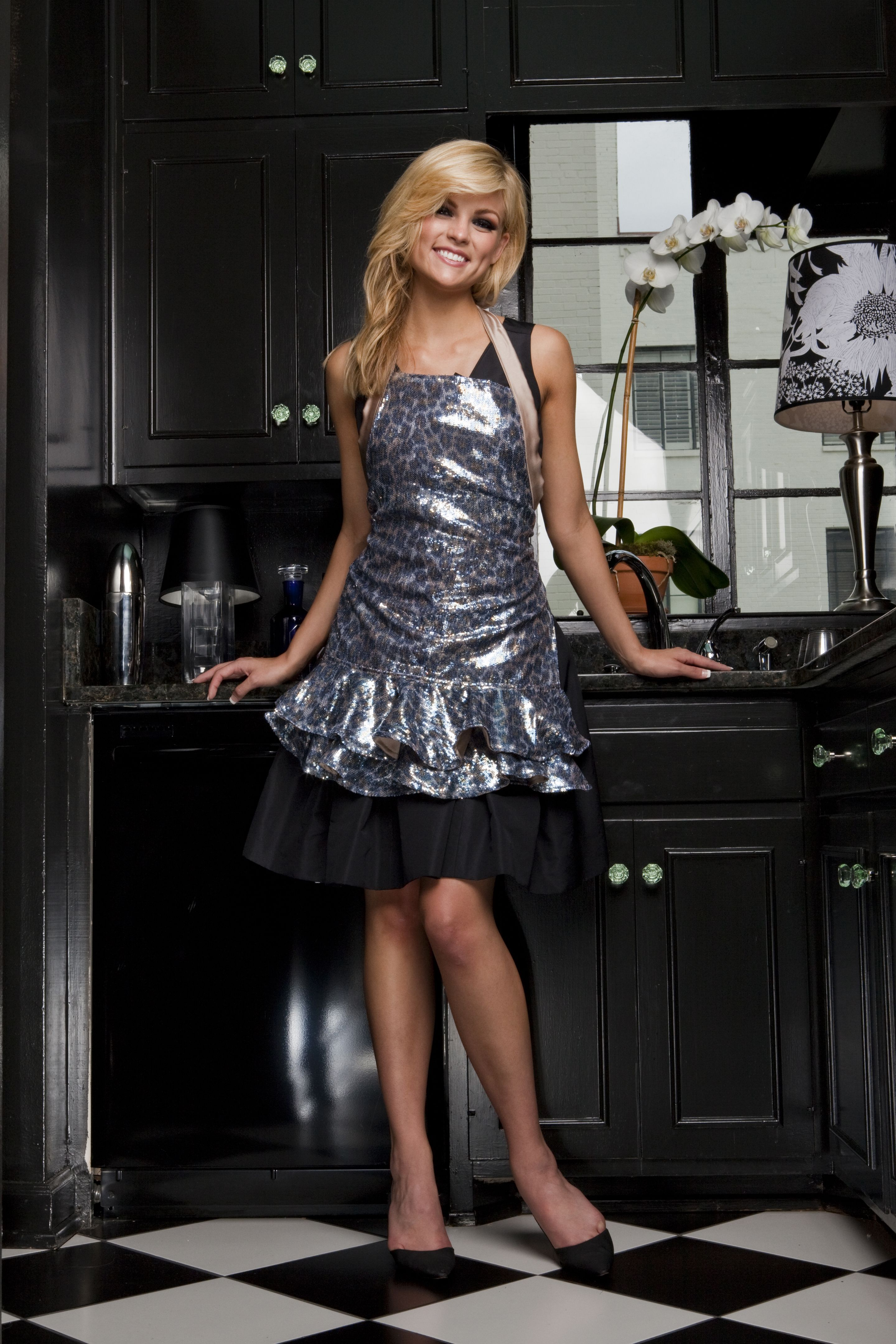 Think smoky leopard sequin Haute Hostess Aprons ~ Thank your host with Hottest Newest Latest. You'll be invited back!