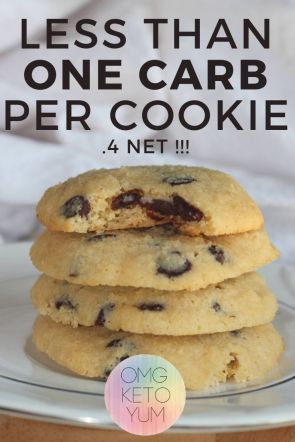 Keto Chocolate Chip Cookies | Soft and Chewy Low Carb Keto Cookies
