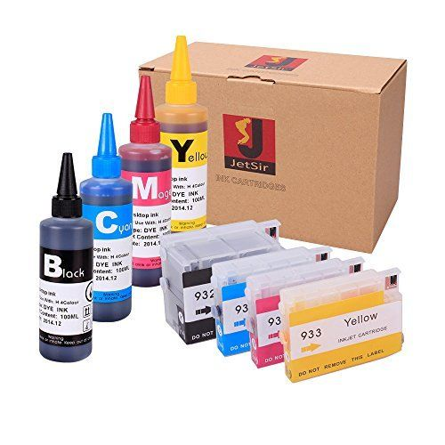 JetSir Color Ink Refill Kits Refillable Cartridge 932 933 And Standard 100 Ml