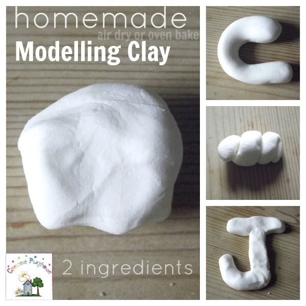 I Mixed Half A Cup Of Pva Glue White Glue With 1 Cup Of Cornstarch Cornflour Can Bake At 100degrees For 1 1 2 Hrs Or Modeling Clay Homemade Clay Crafts