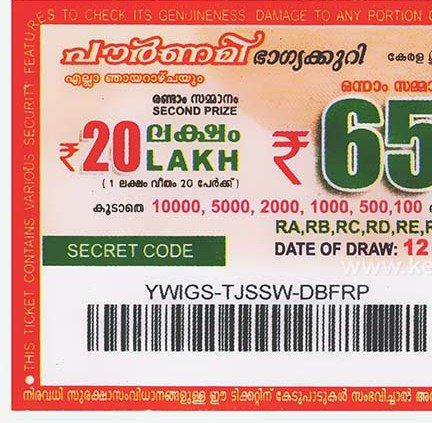 Pin On Pournami Lottery Results Today