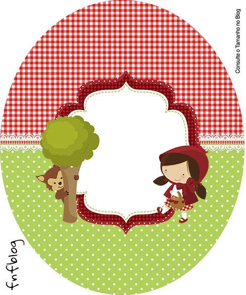 Tubete Oval Chapeuzinho Vermelho  cumple caperucita roja  Festa infantil chapeuzinho vermelho Convite chapeuzinho vermelho e Chapeuzinho vermelho