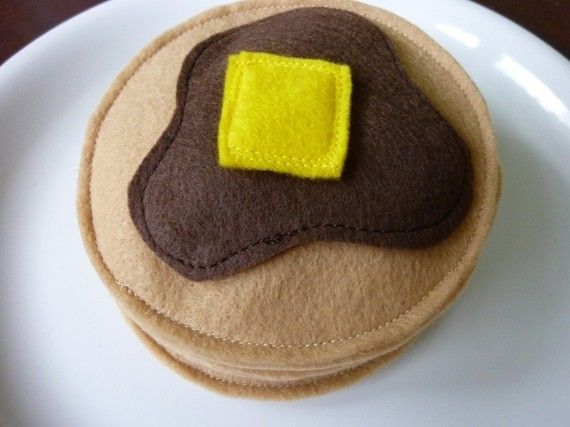 Pancakes - Felt Play Food | Craft ideas | Felt play food